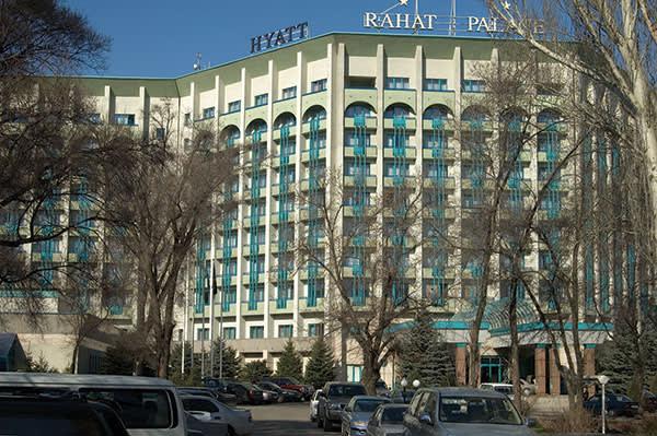 The Hyatt hotel in Almaty, Kazakhstan
