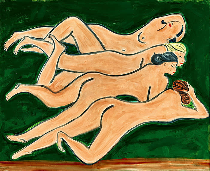To be offered by Sotheby's in New York, 16 April 2020 Modern Art Evening Sale Sanyu Quatre Nus 1950s, oil on masonite, 100 by 122 cm