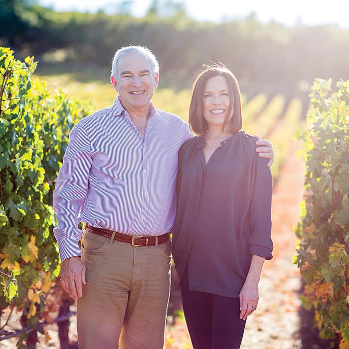 Ann Colgin with her husband, Joe Wender