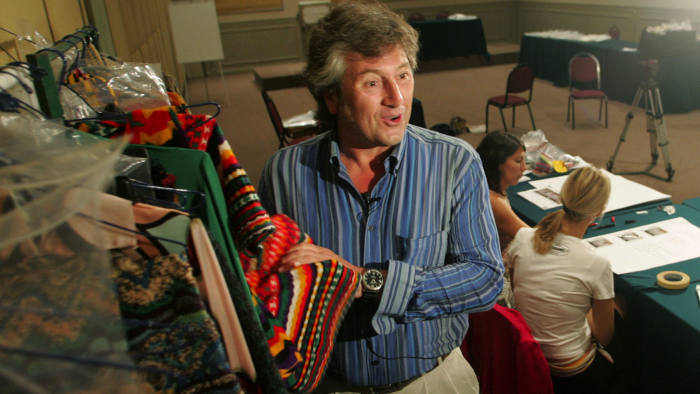 Vittorio Missoni marketing director of Italian couturier Missoni during an interview with Reuters....Vittorio Missoni, marketing director of Italian couturier Missoni, speaks during an interview with Reuters in Lima, December 15, 2004. The family-owned company is holding a fashion show retrospective in Lima to mark its 50th anniversary last year. Missoni, best known for colorful knits in bold stripes and zigzags, is targeting China as its next big market.REUTERS/Mariana Bazo MB/HB