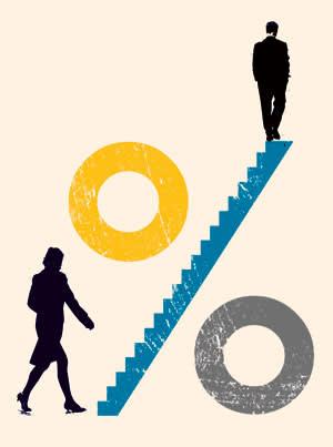 Illustration of gender imbalance by Shonagh Rae