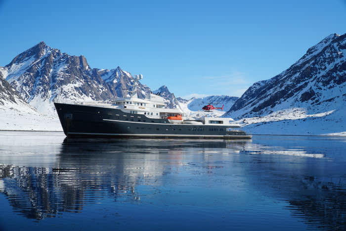 Motor Yacht LEGEND - Greenland Yacht and Heli - Image Credit Y.CO photo by Powderbird