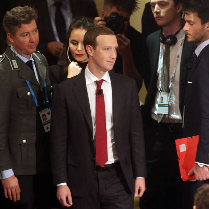 MUNICH, GERMANY - FEBRUARY 15: Facebook founder and CEO Mark Zuckerberg arrives for the 2020 Munich Security Conference (MSC) on February 15, 2020 in Munich, Germany. The annual conference brings together global political, security and business leaders to discuss pressing issues, which this year include climate change, the US commitment to NATO and the spread of disinformation campaigns. (Photo by Johannes Simon/Getty Images)