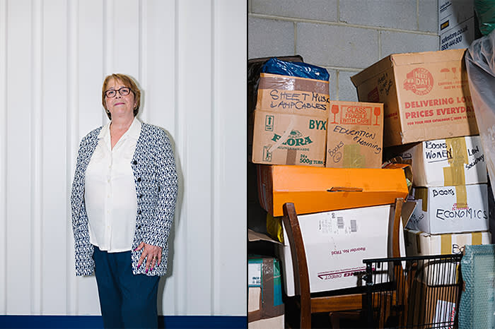 Chris Fear (left) had to put most of her possessions into a unit at Safestore Charlton when she had to suddenly sell her house