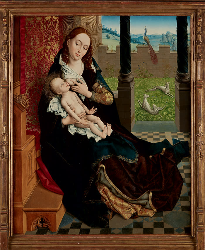 e02e32d14ec1  Nursing Madonna  (c1480-1510) by the Master of the Embroidered Foliage