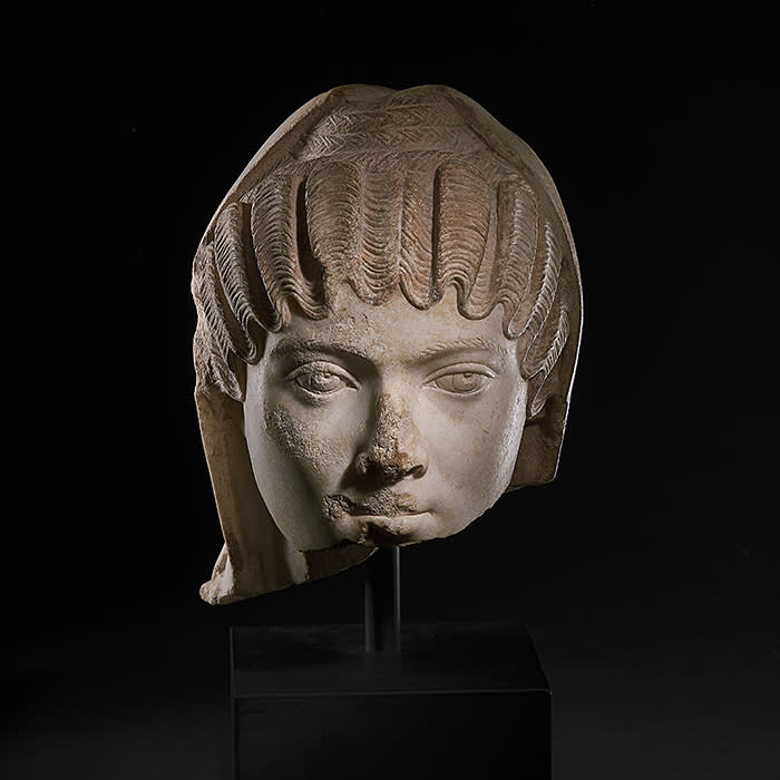 Colnaghi Anonymous Portrait Head of a Woman Roman, Imperial Period, ca. 150-200 A.D. Marble