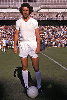 Vicente del Bosque at Real Madrid in 1980