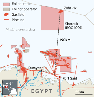 Eni gas map