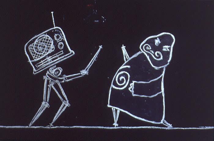 William Kentridge Ubu Tells the Truth 1996 - 1997 Animated Film, 35mm film, DVD and video transfer 7 min 9 sec