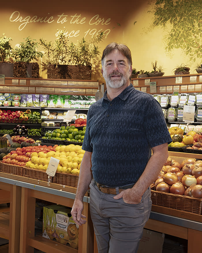 Al Baylacq, a partner in Good Earth Natural Foods, an organic superstore business, and a Sanders supporter: 'I have been blessed with some very lucky breaks'
