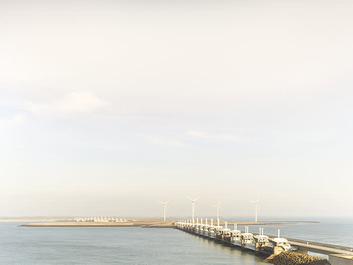 At nearly 8km long, the Eastern Scheldt storm-surge barrier is the largest of the Delta Works network of dams, dykes, sluices and storm barriers built by the Dutch government