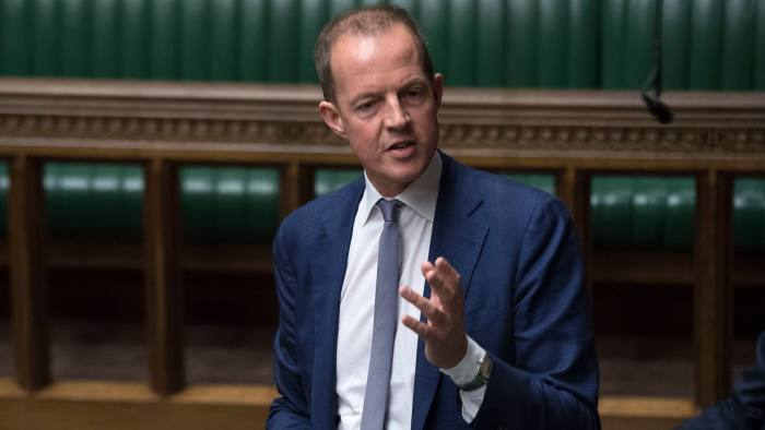 Handout photo issued by UK Parliament of Nick Boles during the indicative votes debate in the House of Commons, London Britain, 01 April 2019. British Members of Parliament are taking part in indicative votes on alternative versions for Brexit with Prime Minister Theresa May's cabinet ministers again instructed to boycott the votes.