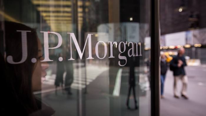 JPMorgan Chase & Co. signage is displayed at its Madison Avenue building in New York, U.S., on Tuesday, Jan. 12, 2016. JPMorgan Chase is scheduled to release earnings data on January 14. Photographer: Michael Nagle/Bloomberg