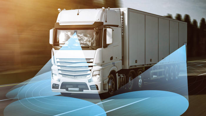 Mobileye on a truck