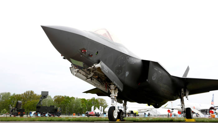 FILE PHOTO: A Lockheed Martin F-35 aircraft is seen at the ILA Air Show in Berlin, Germany, April 25, 2018. REUTERS/Axel Schmidt/File Photo