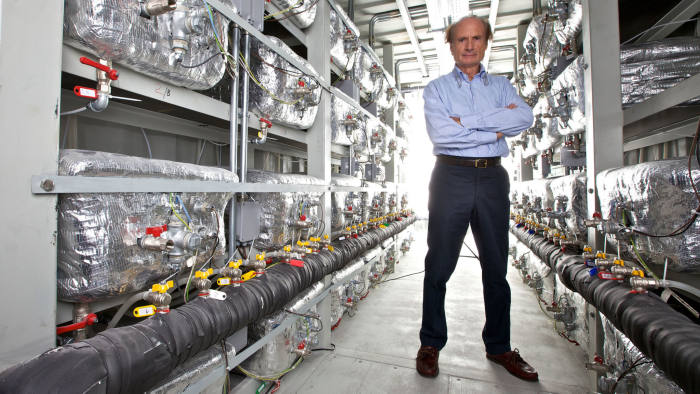 Mandatory Credit: Photo by Lighthouse/Universal Images Group/Shutterstock (3800333a) Italian engineer Andrea Rossi, father of E-Cat in the Cold Fusion plant containing E-cat connected in series and in parallel to produce a megawatt of energy through the process of cold fusion VARIOUS