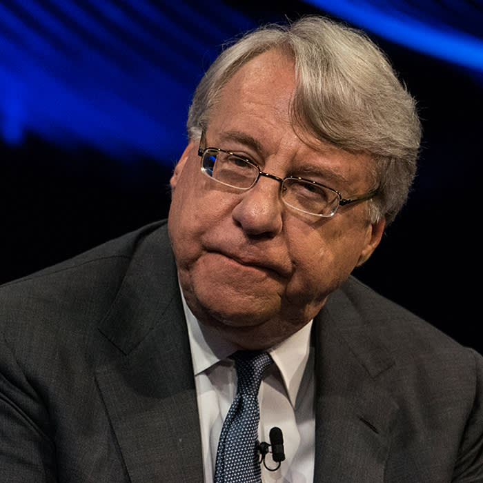 Jim Chanos, founder and president of Kynikos Associates LP, listens during the Bloomberg Invest Summit in New York, U.S., on Tuesday, June 6, 2017. This invitation-only event brings together the most influential and innovative figures in investing for an in-depth exploration of the challenges and opportunities posed by the constantly changing financial, economic and regulatory landscape. Photographer: Misha Friedman/Bloomberg