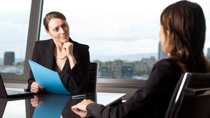 Female candidate during a job interview ID 51025064 © Adamgregor | Dreamstime.com
