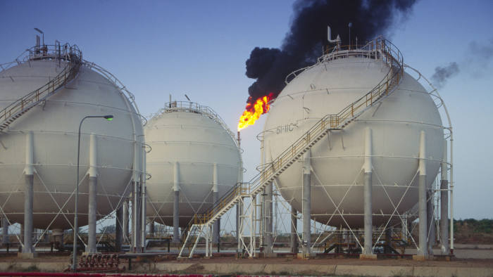 Oil and petrochemical refinery, Kaduna, Nigeria. (Photo by Andrew Holt/Construction Photography/Avalon/Getty Images)
