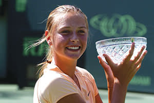 Maria Sharapova Winning the 2002 Target Cup in Key Biscayne, Florida, aged 14