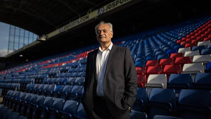 Thursday 18th October 2018. Picture by Charlie Bibby/ Financial Times. Haris Jani, former finance director of Crystal Palace FC who has taken a sabbatical late in life to go back to school and study an MBA. Photograph shows Mr Jani in the stands of Selhurst Park, Crystal Palace' stadium.