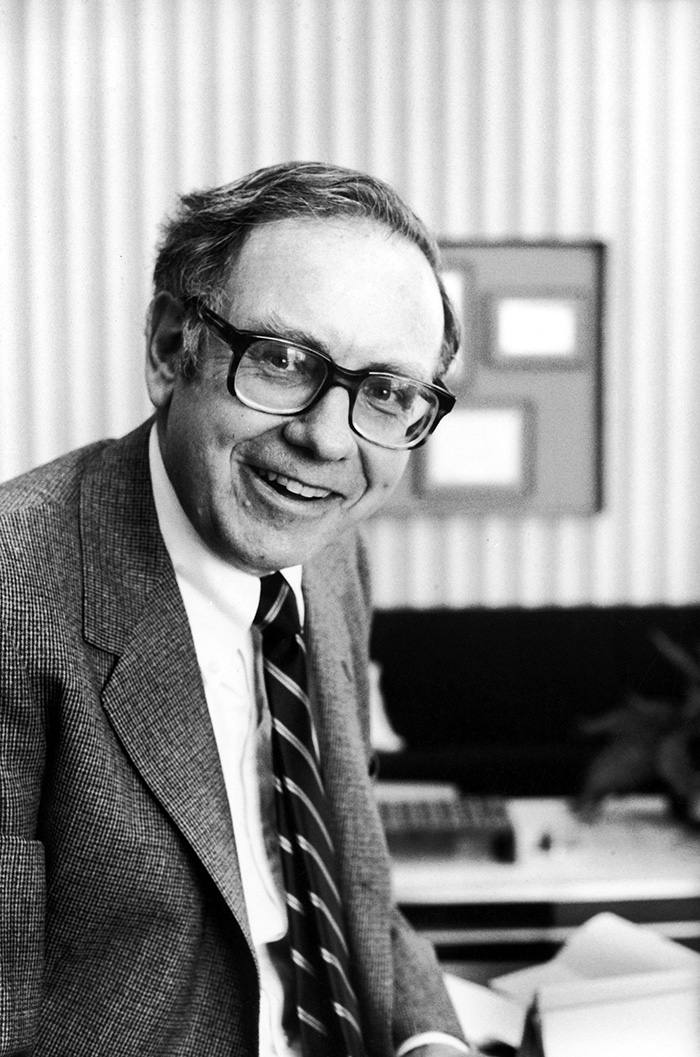 "A portrait of Buffett taken in 1980. Now 88, he remains at the helm of his company because he still enjoys it: ""Why do I get up every day and jump out bed? Because I love what I do and I love the people I do it with"""