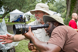McQueen on location filming '12 Years a Slave'