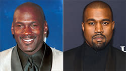 Michael Jordan and Kanye West