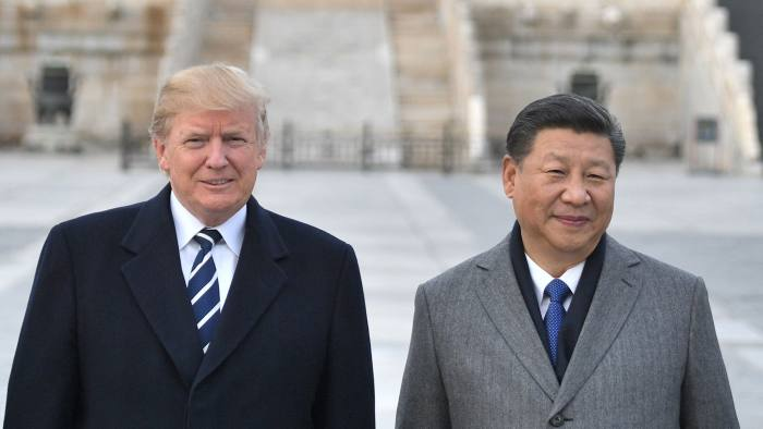 "(FILES) In this file photo taken on November 8, 2017, US President Donald Trump, and Chinese President Xi Jinping pose at the Forbidden City in Beijing. - Trump on November 1, 2018, said he'd just had ""very good"" talks with his Chinese counterpart Xi Jinping on the growing trade conflict between the two economic giants. ""Just had a long and very good conversation with President Xi Jinping of China. We talked about many subjects, with a heavy emphasis on Trade,"" Trump tweeted. (Photo by Jim WATSON / AFP)JIM WATSON/AFP/Getty Images"