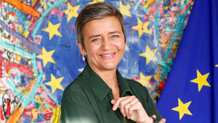 European Competition Commissioner Margrethe Vestager poses after an interview with Reuters at the EU Commission headquarters in Brussels, Belgium, December 10, 2018. REUTERS/Francois Lenoir