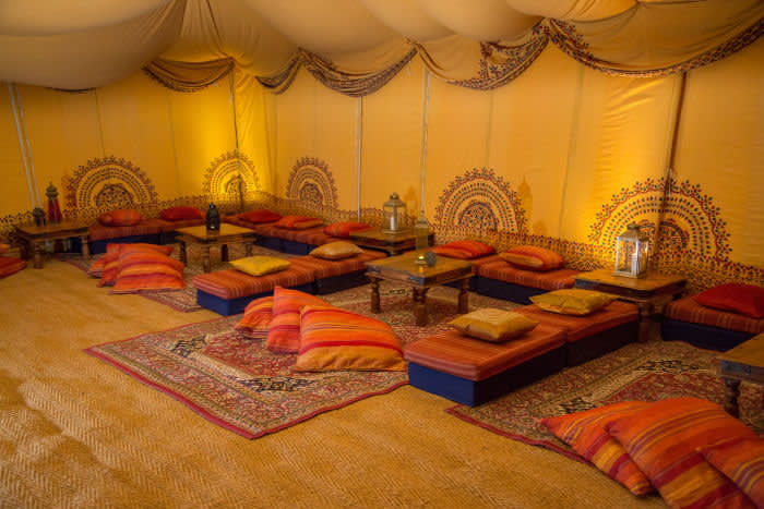 Arabian Tent Company lounge marquee indian-tent-creative-wedding-alternative-yellow-