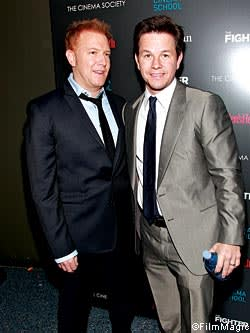 Ryan Kavanaugh with Mark Wahlberg at a screening of 'The Fighter'