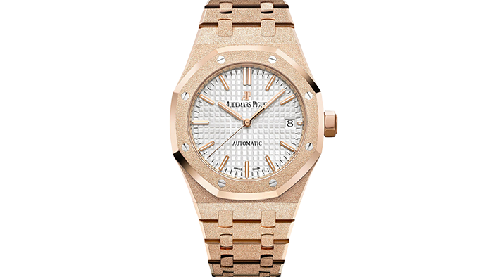 Audemar Piguet's Royal Oak with Florentine finish