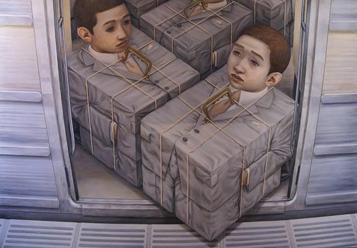 Tetsuya Ishida Cargo, 1996 Acrylic on board, 145.6x103cm Courtesy Wada Fine Arts | Y++.
