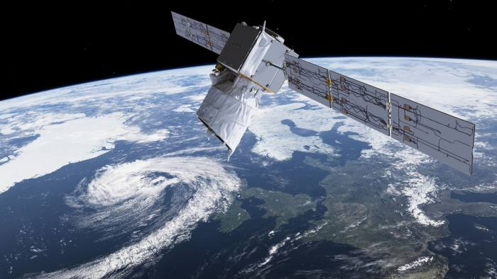 ESA Images - The satellite, Aeolus, which is set to improve weather forecasting by delivering more accurate wind speed data.