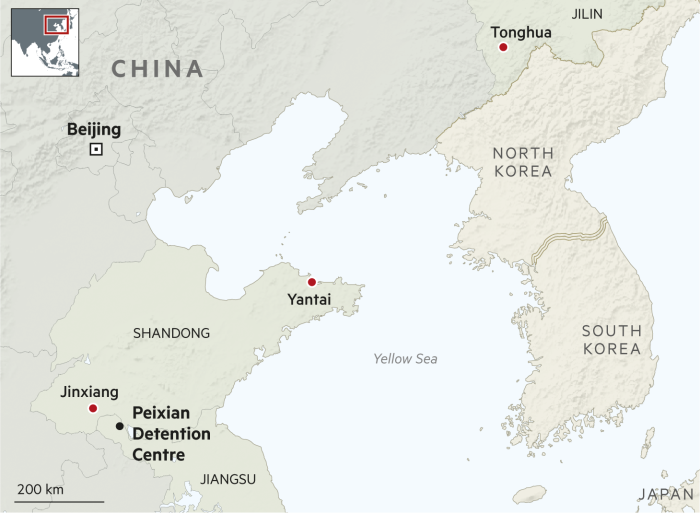China prisons map