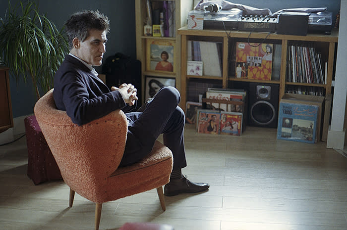 Mark Gergis in his east London home. He now has more than 400 cassettes in his archive, gathered during multiple visits to Syria, which he instantly fell in love with when he first visited in 1997. He travelled widely across the country while building up his collection of cassettes, buying from record labels, street vendors and taxi drivers. Sadly, he hasn't visited the country since 2009 – two years before the war broke out