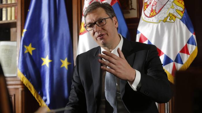 Serbia's Aleksandar Vucic pledges to stay on reform path