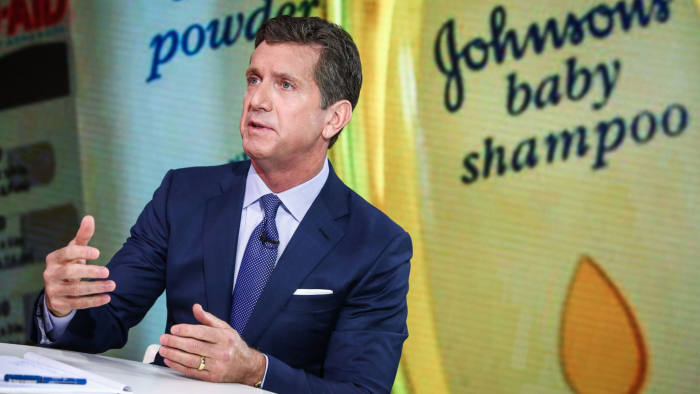 Alex Gorsky, Johnson & Johnson Chief Executive Officer, speaks during a Bloomberg interview in New York, U.S., on Monday, June 26, 2017. Photographer: Christopher Goodney/Bloomberg