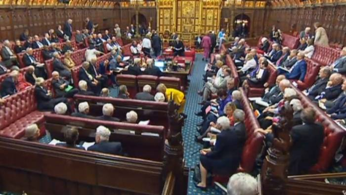 Peers in the House of Lords, London, as the Government suffered its first defeat in the Lords over the European Union (Withdrawal) Bill after peers voted in favour of a customs union amendment. PRESS ASSOCIATION Photo. Picture date: Wednesday April 18, 2018. See PA story LORDS Brexit. Photo credit should read: PA Wire