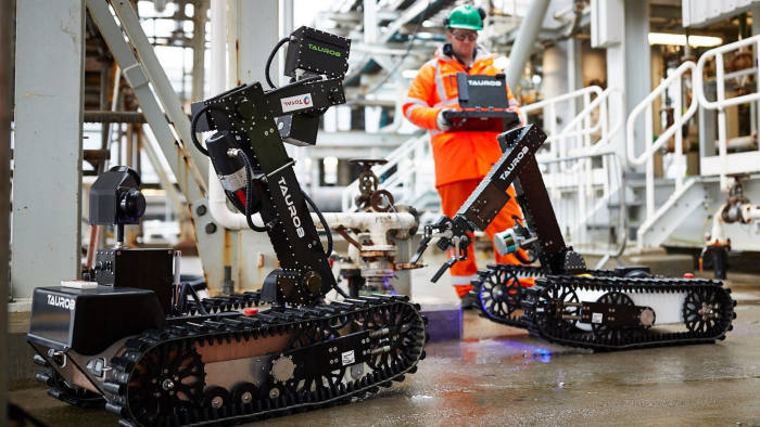Oil & Gas Technology Centre Aberdeen autonomous robots project with Total, which is developing what it calls the world's first offshore work-class robot.