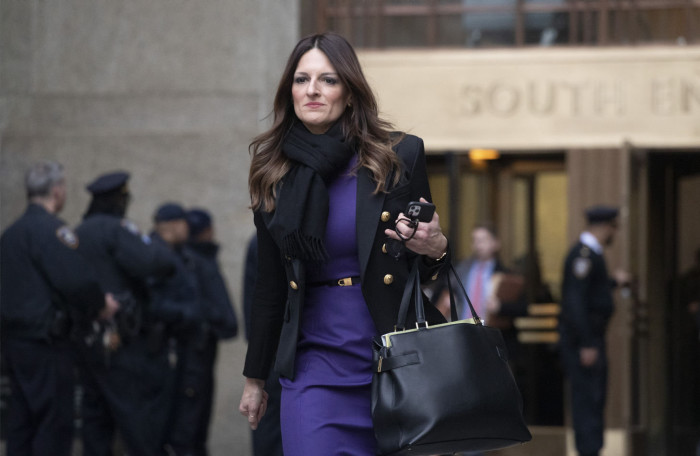 Donna Rotunno, Harvey Weinstein's attorney, leaves the courthouse after a day in his trial on rape and sexual assault charges, Thursday, Jan. 23, 2020, in New York. (AP Photo/Mark Lennihan)