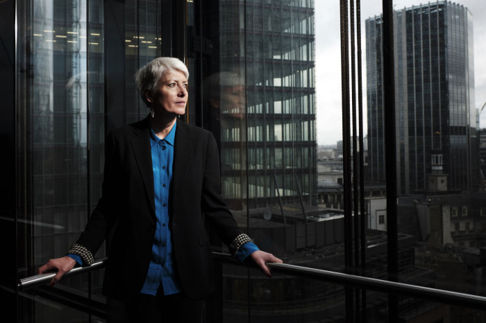 FT, Sarah Gordon photographed at The Leadenhall Building, better known as 'The Cheesegrater' photographed for the FT by Greg Funnell
