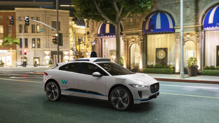Waymo Jaguar i-Pace fitted with self-driving technology. Waymo press site upload