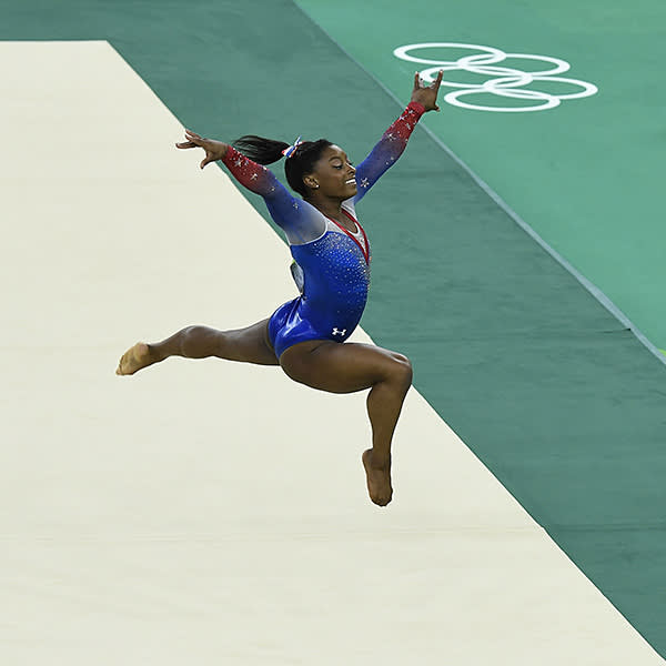 Simone Biles won gold for her floor routine at the Rio Olympics