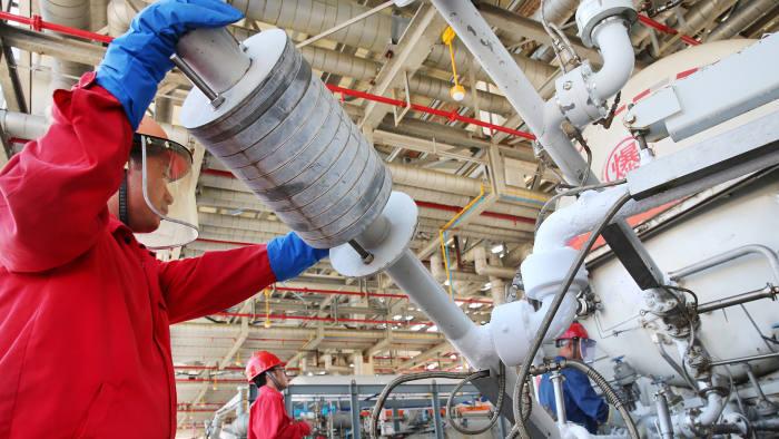 Mandatory Credit: Photo by Sipa Asia/REX/Shutterstock (9863285d) The LNG (liquefied natural gas) terminal in Rudong County LNG Terminal, Rudong County, Nantong, Jiangsu Province, China - 05 Sep 2018