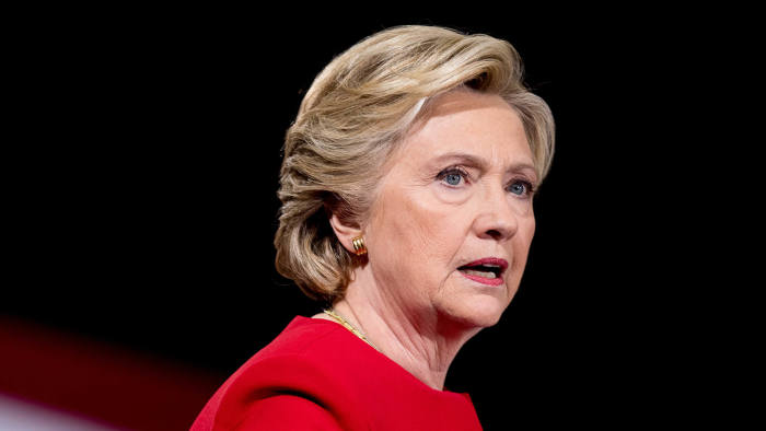 Democratic presidential candidate Hillary Clinton speaks at a rally at Kent State University in Kent, Ohio, Monday, Oct. 31, 2016. (AP Photo/Andrew Harnik)