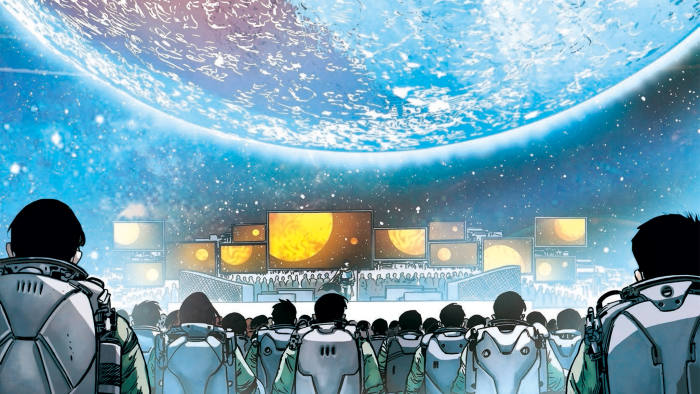 Illustration from Liu Cixin's graphic novel 'The Wandering Earth'