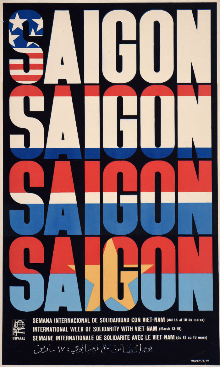 Saigon, International Week of Solidarity with Viet-Nam, 1970 © René Mederos Pazos, OSPAAAL, The Mike Stanfield Collection