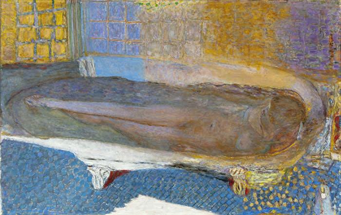 Pierre Bonnard (1867 – 1947)Nude in the Bath (Nu dans le bain) 1936-8Oil paint on canvas930 x 1470 mmMusée d'Art moderne de la Ville de Paris/ Roger-Viollet